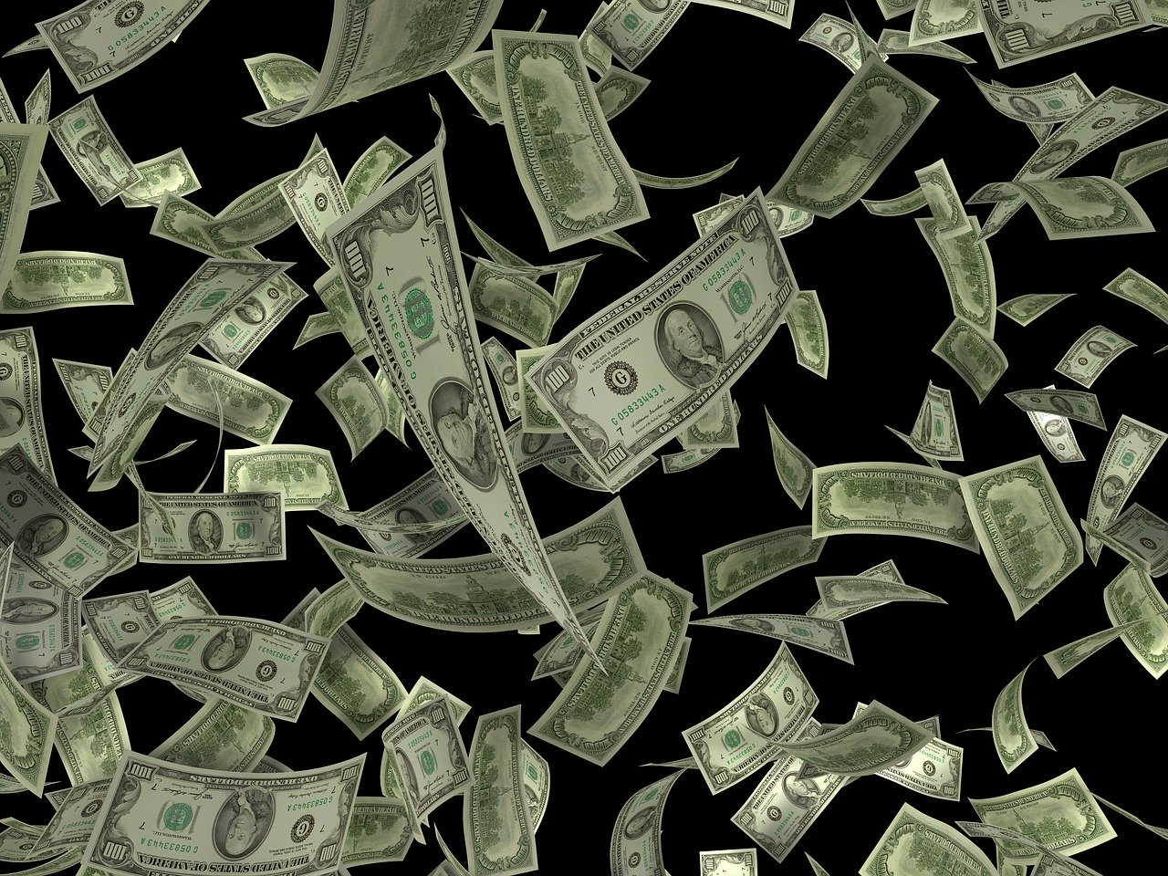 poletujici dolary